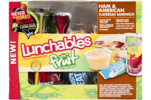 Lunchables with Fruit Flatbread Sandwich Ham & American