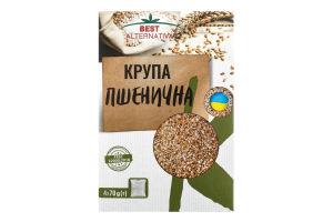 Крупа пшеничная в пакетиках Полтавская №3 Бест Альтернатива к/у 4х70г