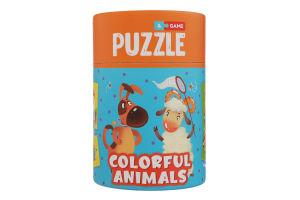 Пазл для дітей від 18міс №200100 Кольорові тваринки Mon Puzzle 1шт