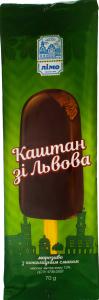 Морозиво 13% ескімо з шоколадним смаком в кондитерській глазурі Лімо м/у 70г