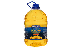Масло подсолнечное рафинированное Золотое Чумак п/бут 5л