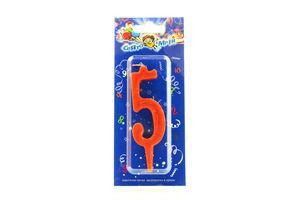 """Свічка Свято мрій нумерична цифра 5"""""""""""