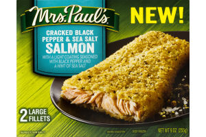 Mrs. Paul's Cracked Black Pepper & Sea Salt Salmon Fillets - 2 CT