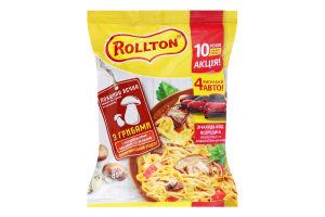 Локшина швидкого приготування яєчна з грибами По-домашньому Rollton м/у 85г