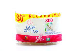 Палочки гигиенические ватные Lady Cotton 300шт