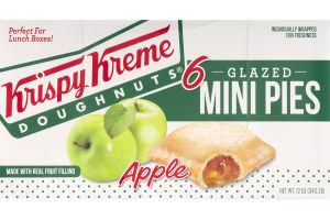 Krispy Kreme Doughnuts Glazed Mini Pies Apple - 6 CT