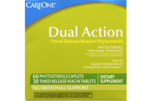 CareOne Dual Action Timed Release Niacin-Phytosterols Dietary Supplement - 90 CT