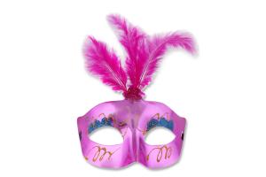 Маска карнавальная с перьями в ассортименте Y*_1