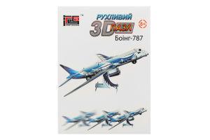 Пазл для дітей від 8років рухливий 3D №HWMP-99 Боінг-787 Hope Winning 1шт