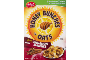 Honey Bunches of Oats Cereal with Sweet Cinnamon Bunches