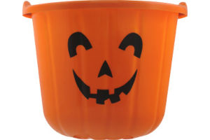 Pumpkin Plastic Bucket