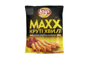 Чіпси Lays Max круті хвилі Курячы крильця барбекю 62г х24