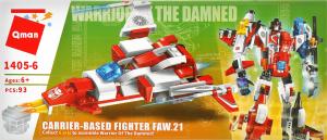 Конструктор для детей от 3лет №1405-6 Военно-воздушный транспорт Qman 1шт
