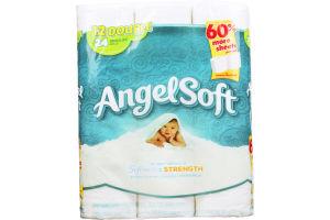 Angel Soft Bathroom Tissue Softness & Strength - 12 CT