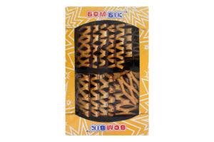 Печиво здобне листкове з чорною глазур'ю Сенсація Бом-Бік к/у 0.35кг