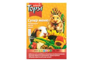 Корм витаминизированный для грызунов Супер меню Topsi к/у 510г