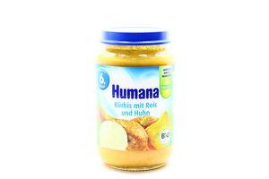 Пюре для детей от 6мес Тыква с рисом и курицей Humana c/б 190г