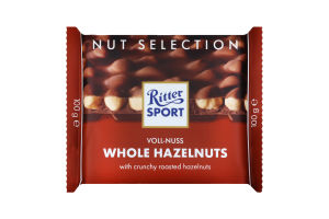 Шоколад молочний з цільним фундуком Whole hazelnuts Ritter Sport м/у 100г