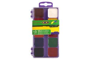 Краски акварельные медовые без кисточки 10 цветов №ZB.6520-07 Zibi 1шт