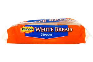Rhodes Bake N Serve White Bread Loaves - 3 CT