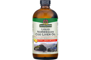 Nature's Answer Liquid Norwegian Cod Liver Oil Natural Lemon-Lime