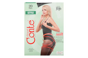 Колготки жіночі Conte Style №8С-73СП 20den 3 nero