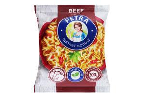 Вермишель быстрого приготовления со вкусом говядины Petra м/у 50г