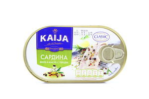 Сардина Kaija у маслі з перцем 170г х40