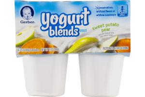 Gerber Yogurt Blends Snack Sweet Potato Pear / Sitter - 4 PK