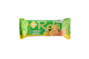 Вафли Zhytomir Ролс с ароматом лимона