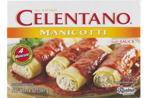 Celentano Manicotti with Sauce