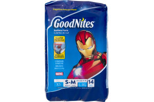 GoodNites Marvel Bedtime Pants S-M - 14 CT