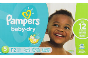 Pampers Baby Dry Diapers Size 5 - 112 CT
