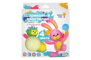 Набор для лепки для детей от 3лет №ТА1801 Пластилин шариковый 4 цвета Genio kids 1шт