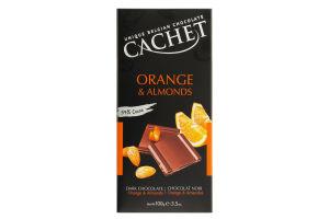Шоколад CACHET Orange&Almonds 100г(апельсин+мигдал