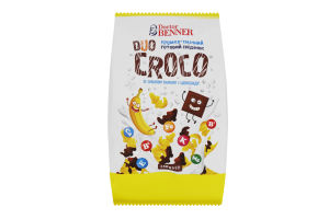 Сніданок готовий зі смаком банану та шоколаду Duo Croco Doctor Benner м/у 150г