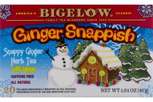 Bigelow Tea Ginger Snappish - 20 CT