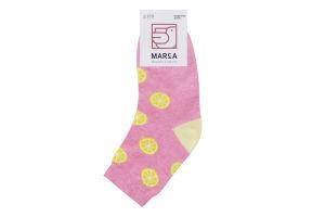 Шкарпетки жіночі Marca №42114 23-25 лимон рожевий