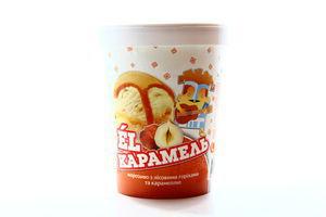 Мороженое Геркулес EL Карамель с лесным орехом и карамелью карт стак 500г