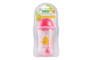 Поїльник для подорожей з трубочкою 380мл для дітей від 9-ти місяців №5010 Baby Team 1шт