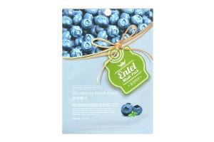 Маска для лица тканевая Blueberry Entel 20мл