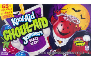 Kool-Aid Ghoul-Aid Jammers Scary Berry - 10 CT