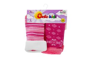 CONTE-KIDS SOF-TIKI Шкарпетки дитячі (2 пари) р.12 703 білий-рожевий