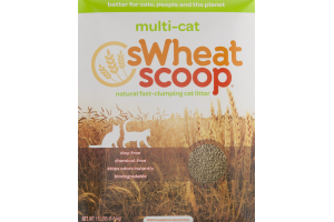 sWheat Scoop Multi-Cat Natural Fast-Clumping Cat Litter