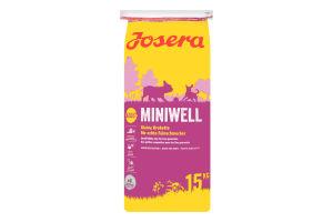 Корм сухой для взрослых собак Miniwell Josera 15кг