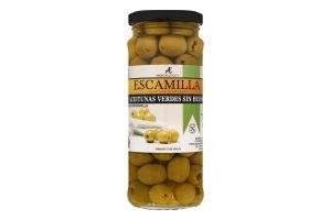 Оливки Мансанільйо зелені б/к 160г скло Ескамілья