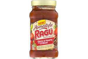 Ragu Homestyle Pasta Sauce Thick & Hearty Flavored with Meat