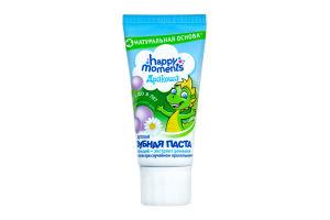 Зубная паста детская гелевая Bubble gum Дракоша Happy moments 60мл