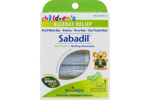 Boiron Sabadil Children's Allergy Relief Non-Drowsy Homeopathic Medicine Quick-Dissolving Pellets - 2 PK