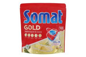 Засіб для миття посуду в посудомийних машинах Gold Somat 10x19.2г